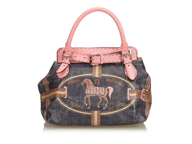 Canvas Handbags With Leather Trim