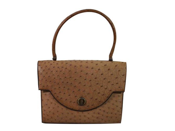 915fcafa448 Hermès vintage Handbags Exotic leather Brown ref.93032 - Joli Closet