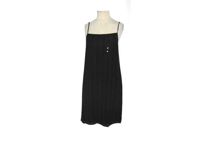 Robes Autre Marque Robe En Soie Et Paillettes Style Annees 20 Soie Noir Ref 93041 Joli Closet