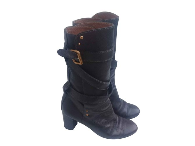 Chloé boots Boots Leather Brown ref.93063