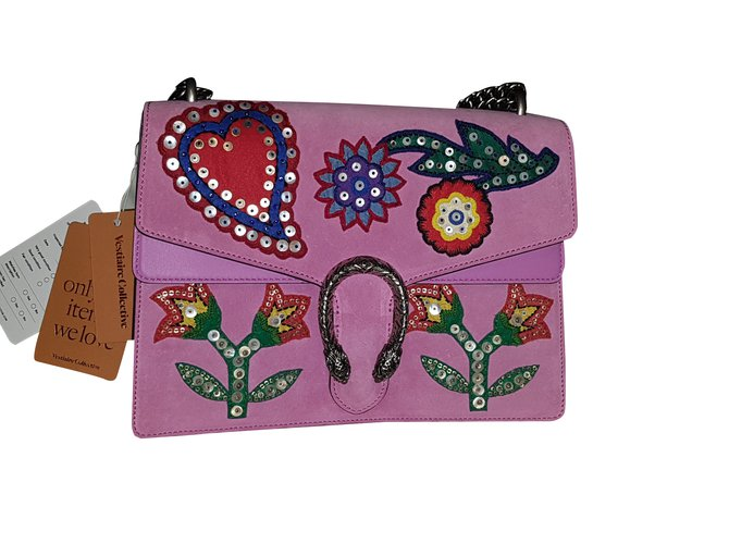 06454db63f19 Queen Margaret Top Handle Bag Source · Gucci Dionysus Limited Edition  Handbags Suede Pink ref 93126 Joli