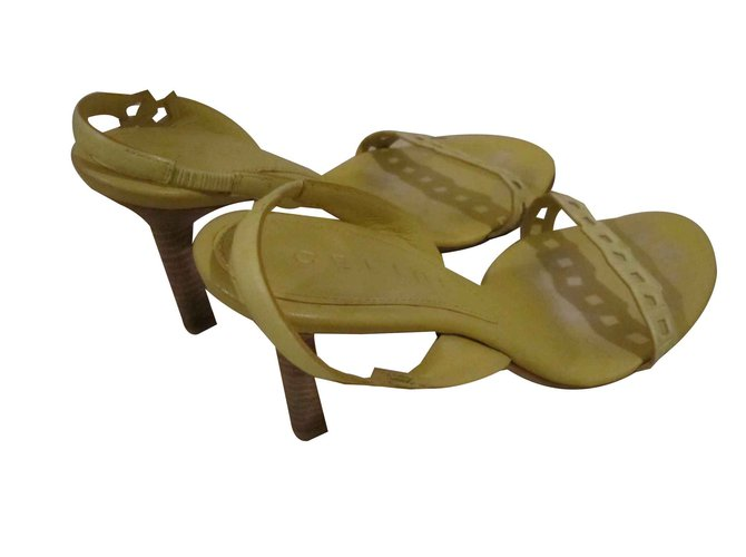 Céline sandals Sandals Leather Yellow ref.93256