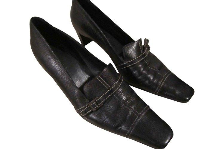 Céline Flats Flats Leather Black ref.93257