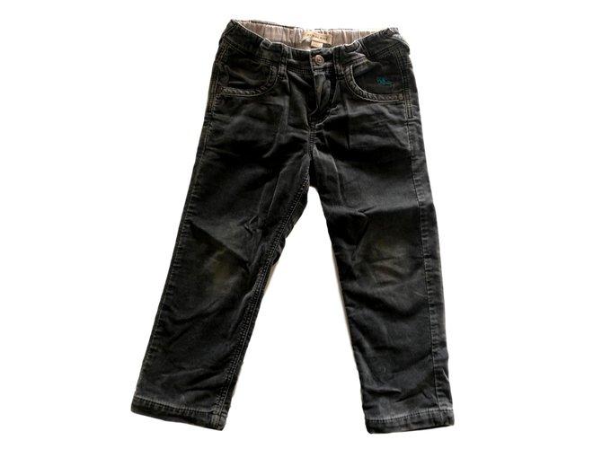 Pantalons garçon Burberry Pantalon slim en velours ras Velours Gris ref.93325