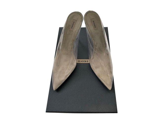 a7242e6d813 Yeezy Season 6 clear heels mules Heels Plastic Beige ref.93367 ...