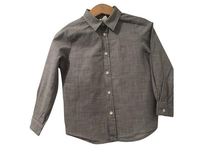 Bonpoint Bonpoint boy shirt Tops Tees Cotton Black,White ref.93454