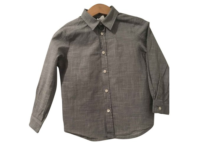 Tops garçon Bonpoint chemise garçon Bonpoint Coton Noir,Blanc ref.93454