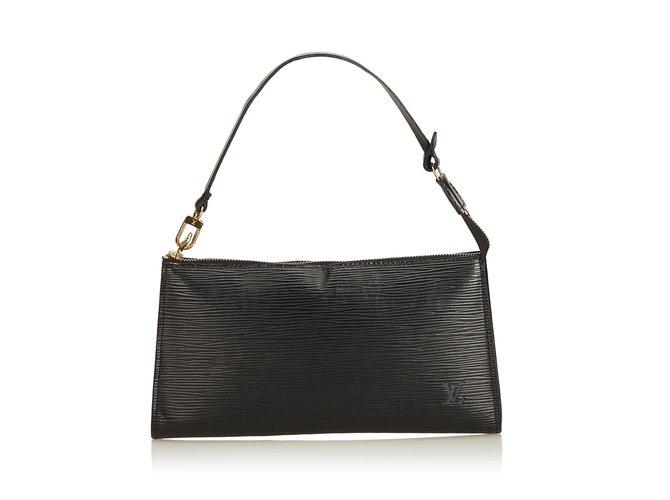 Sacs à main Louis Vuitton Epi Pochette Accessoires Cuir Noir ref.93513 8d5b54d1b0a