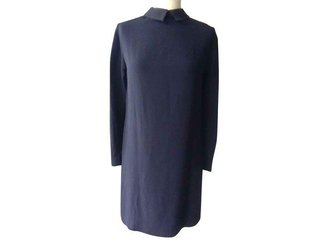 Robes Miu Miu Robes Viscose,acetate Bleu Marine ref.93565