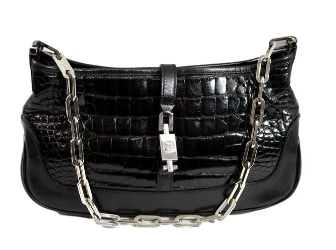 80aae1e3e Gucci Jackie Handbags Exotic leather Black ref.93601 - Joli Closet