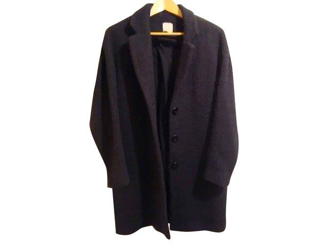Manteaux Pablo De Gerard Darel Manteaux, Vêtements d'extérieur Laine Bleu Marine ref.93623