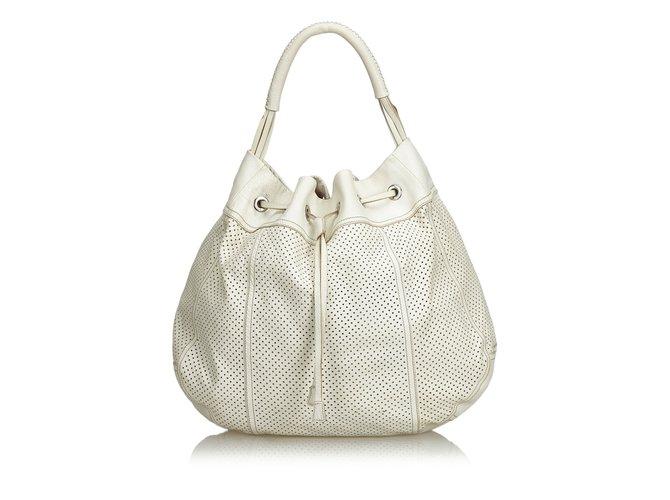 db820bbcb774 Prada Perforated Leather Hobo Handbags Leather