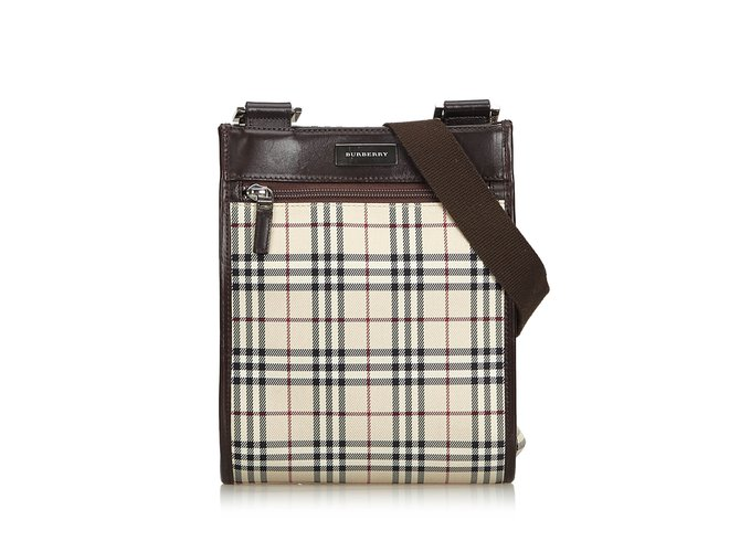 f5d241e0a8c3 Burberry Nova Check Jacquard Crossbody Bag Handbags Leather