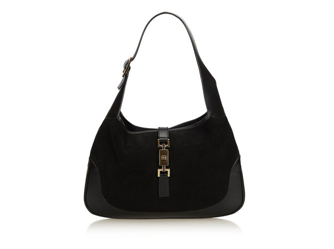 e94a4728b9fd37 Gucci Suede Jackie Handbags Suede,Leather,Other Black ref.93748 ...