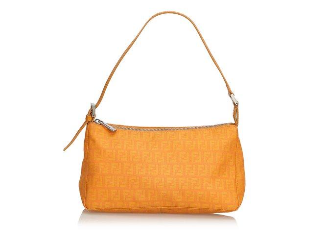 47e43a92efd0 Fendi Zucchino Canvas Baguette Handbags Leather