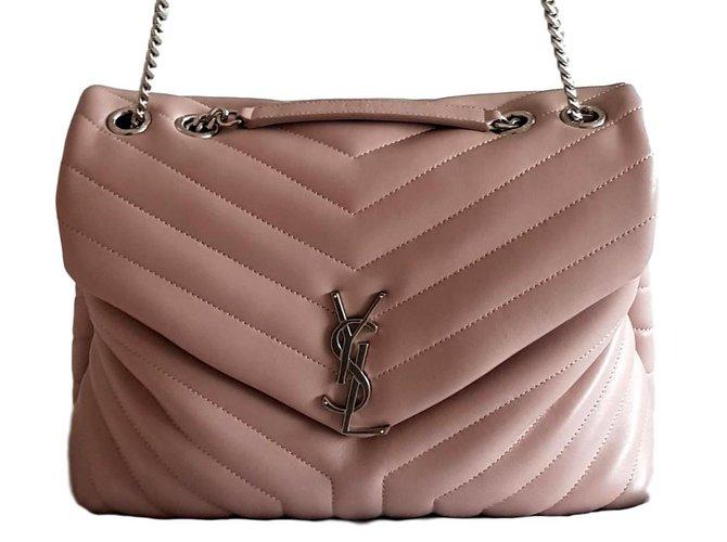 ed01fb6478f Saint Laurent Lou lou medium size Handbags Leather Pink ref.93795 ...