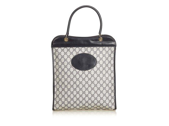 5ea39b00346 Gucci GG Coated Canvas Tote Bag Totes Leather