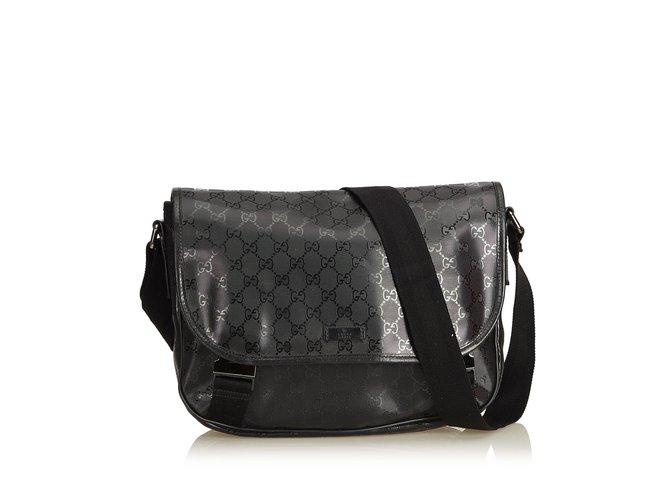 c1d924e9f746 Gucci Guccissima Imprime Messenger Bag Handbags Leather,Other,Plastic Black  ref.94744