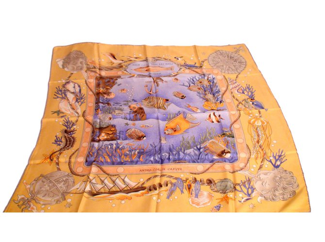 Carrés Autre Marque Foulards de soie Soie Multicolore ref.94769 ... d917a140160