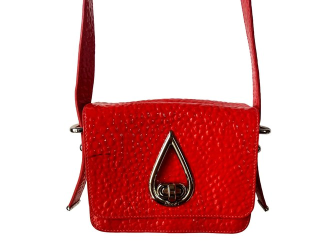 9dd05367f9 Kenzo Raindrop Handbags Leather,Patent leather Silvery,Red,Orange ref.95095