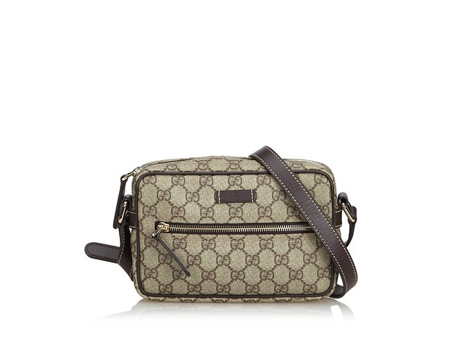 07e0ab9513c3 Gucci Guccissima Crossbody Bag Handbags Leather,Other,Plastic  Brown,Beige,Dark brown