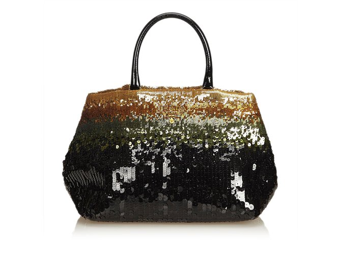 941ac39802d1 Prada Sequined Tote Bag Totes Leather