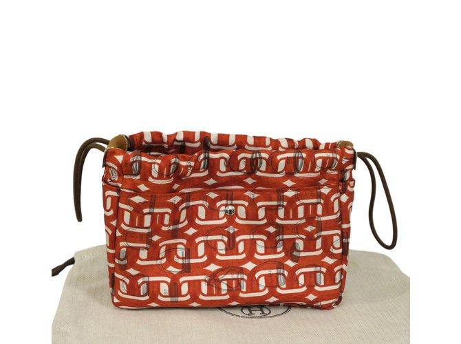 Hermès Fourbi Clutch bags Silk Metallic ref.98292