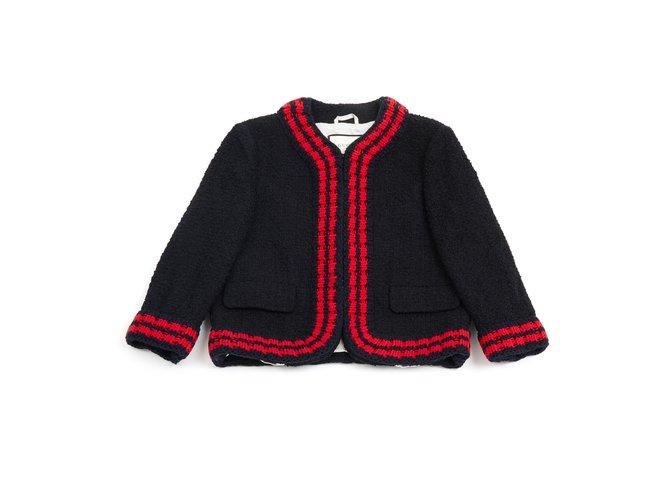 Vestes Gucci NAVY RED FR38 / 40 Coton Bleu Marine ref.98379