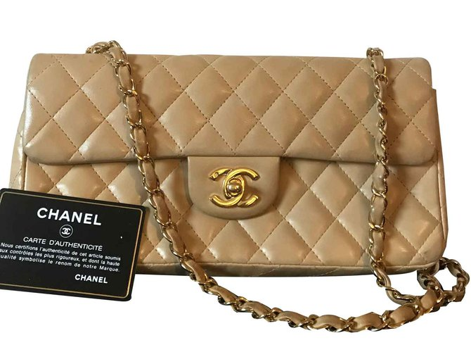 Chanel TIMELESS Handbags Leather Beige ref.98454