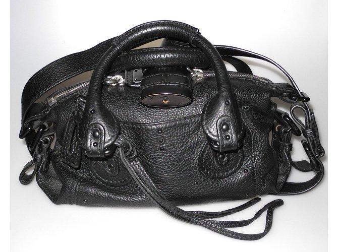Sacs à main Chloé Chloé sac Paddington en cuir noir Cuir Noir ref.98465 d0d403922cd