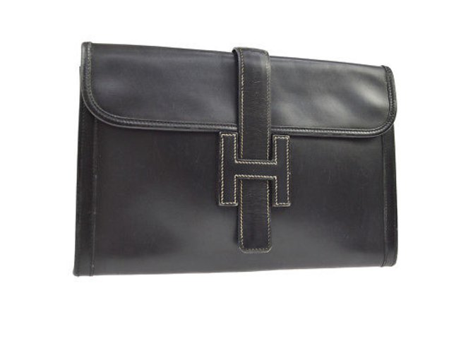Sacs à main Hermès Hermès Jige Autre Noir ref.98483