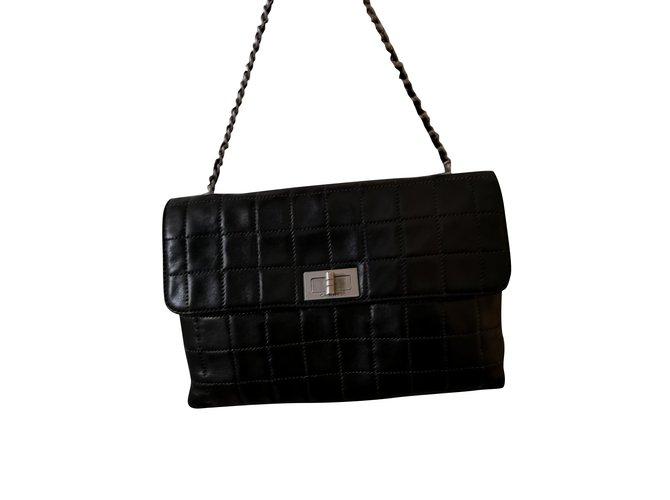 Sacs à main Chanel Chanel mademoiselle 2.55 Cuir Noir ref.98518