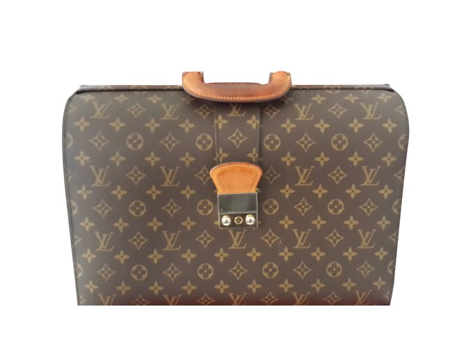 88340fd3b06a ... à Dos Le Cartable PNG Sacs Louis Vuitton Cartable LV Cuir Marron  ref.98639 ...