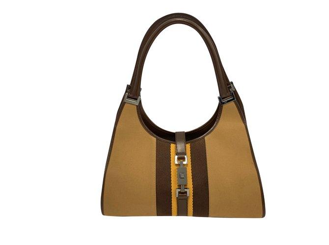 38ecb9f685e Gucci Jackie shoulder bag Handbags Leather Brown ref.98886 - Joli Closet
