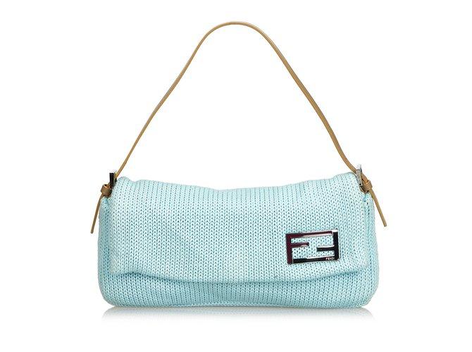 177051e049e1 Fendi Wool Baguette Handbags Leather