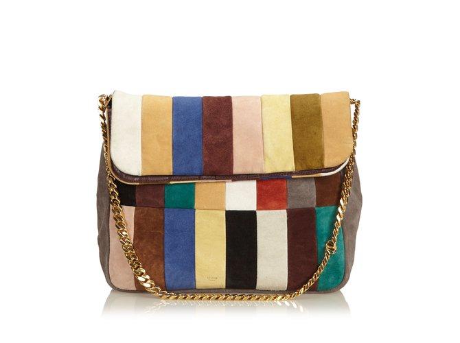 Céline Multi Gourmette Suede Chain Shoulder Bag Handbags Suede ... 71ba3c2faa45d