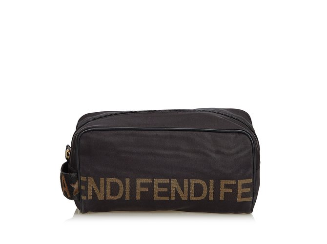 Fendi Logo Nylon Clutch Clutch bags Nylon a51af1fbfdb8d