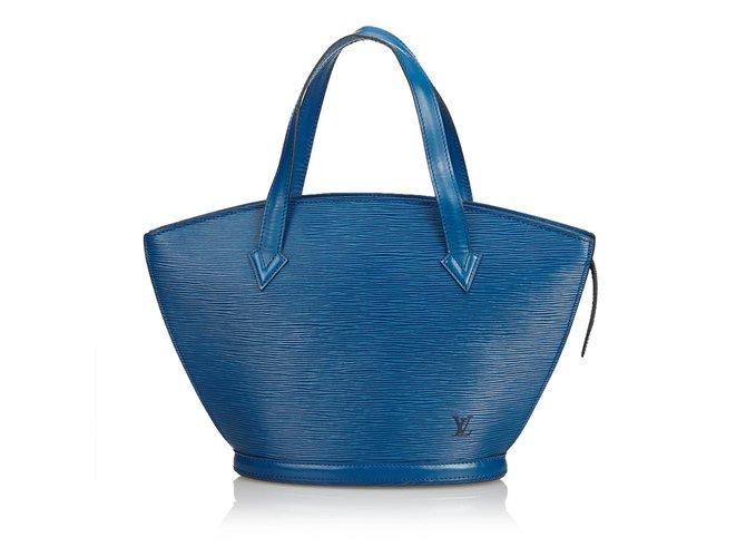 Sacs à main Louis Vuitton Epi Saint Jacques PM Cuir Bleu ref.99064