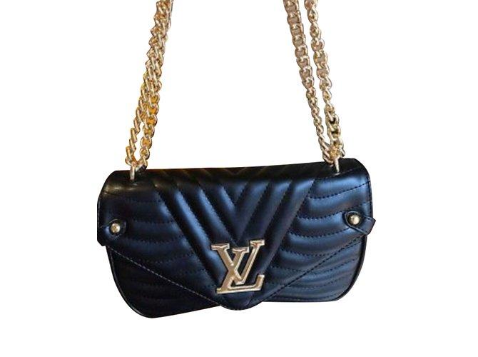 Sacs à main Louis Vuitton Sacs à main Cuir vernis Noir ref.99176