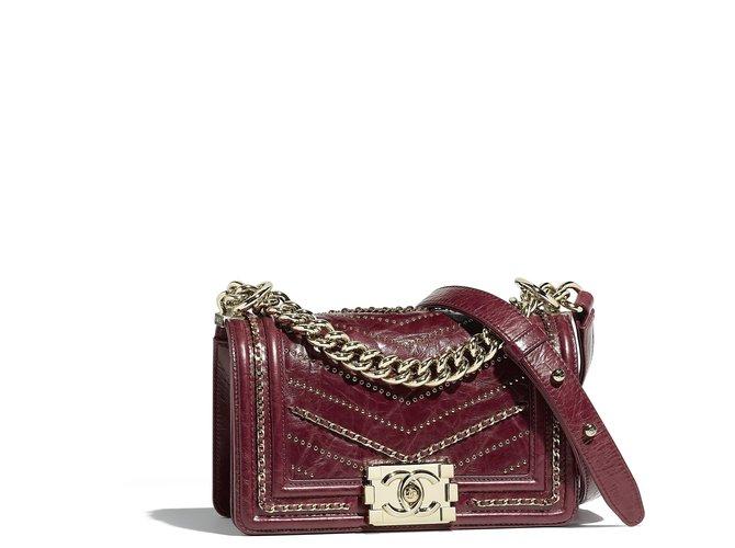 6b68607a6e5425 Chanel Chanel boy small red Handbags Leather Red ref.99177 - Joli Closet