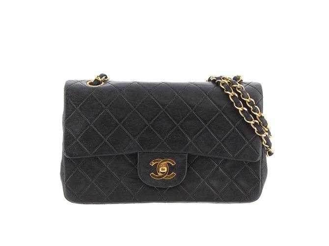 3e501dea71e5 Chanel Classic Small Double Flap Bag Handbags Leather Black ref.99188