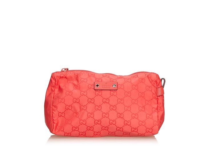 a4d57449bb6 Gucci nylon pouch purses wallets cases nylon cloth red ref jpg 670x500 Gg  purses