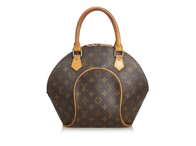 Sacs à main Louis Vuitton Monogramme Ellipse PM Cuir,Toile Marron ref.99242