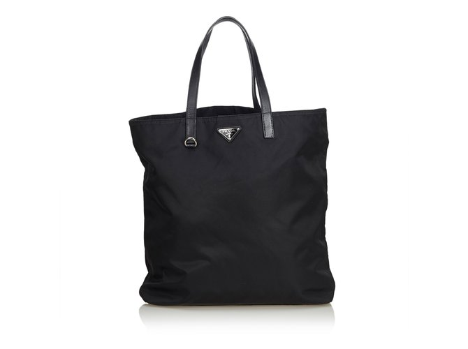 9a00553ff5bc65 Prada Nylon Tote Bag Totes Leather,Other,Nylon,Cloth Black ref.99250 ...