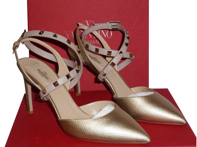 99717716f1e Valentino Garavani Authentic New Valentino Garavani Rockstud Studwrap90  Slingback Heels UK7.5 40.5 Heels Leather