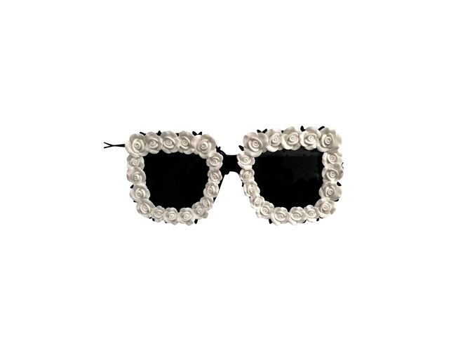 b8fde7a90c8 Dolce   Gabbana SWEET AND GABBANA FLOWER SUNGLASSES BLACK AND WHITE  Sunglasses Other Black