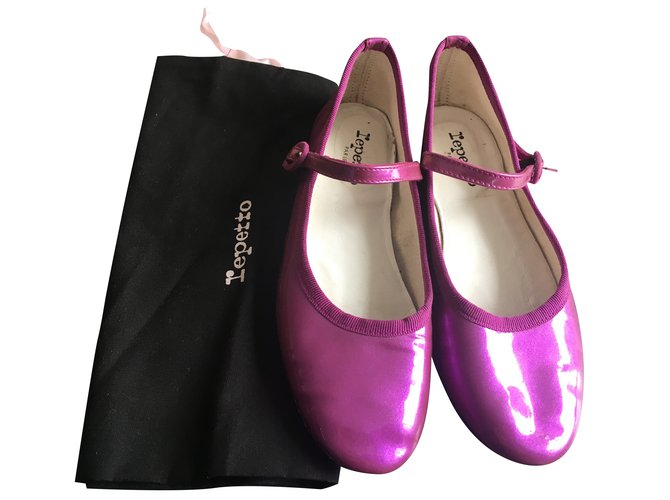 Repetto Repetto Babies Ballet flats Patent leather Purple ref.100050