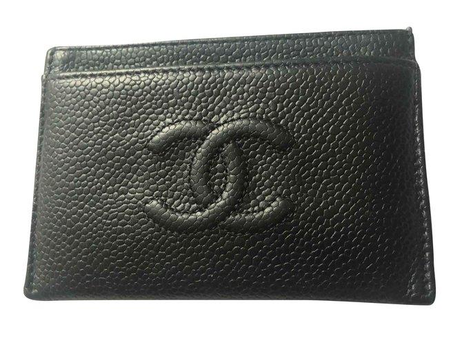 Petite maroquinerie Chanel Intemporel Cuir Noir ref.100166