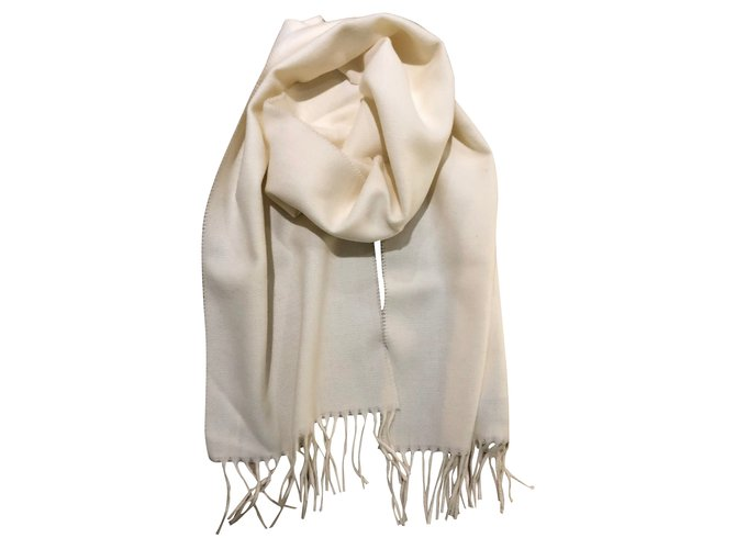 Autre Marque Scarf 100% ivory virgin wool Men Scarves Wool Eggshell ref.100272