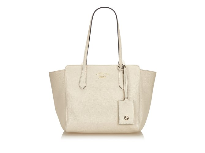 f4f72b88b60 Gucci Leather Swing Tote Totes Leather